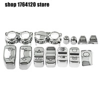 Chrome Hand Control Switch Cover Housing Button Caps 13pcs For Harley Touring Electra Glide Street Glide Road King 2014 2017