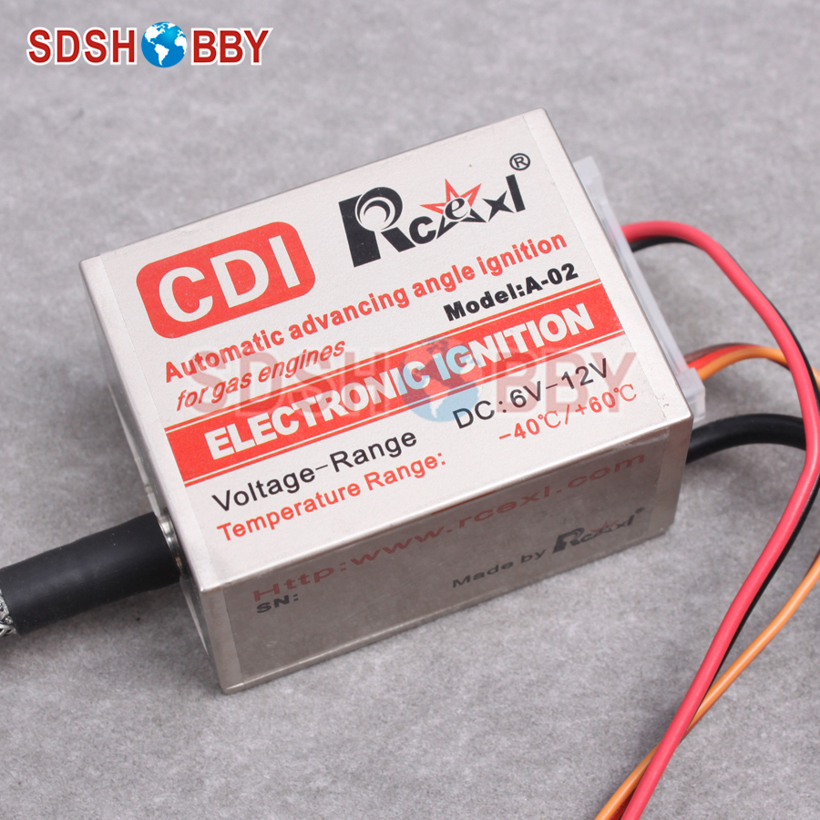 Rcexl Single Cylinder CDI Ignition for NGK-ME8 1/4-32 120 Degree (A-02 6-12V 622a) rcexl lv type twin cylinders cdi ignition igniter ngk me8 1 4 32 120 degrees 6v 12v a 02 series for v