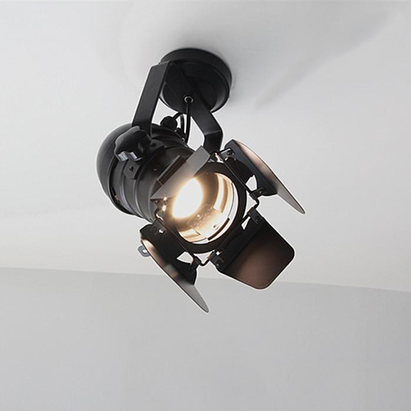 LED Wall Lamp track American Retro Country Loft Style lamps Industrial Vintage Iron wall light for Bar Cafe Home Lighting american country style industrial wall lamp retro bar bedroom pulley light fixtures stairs wall lamp