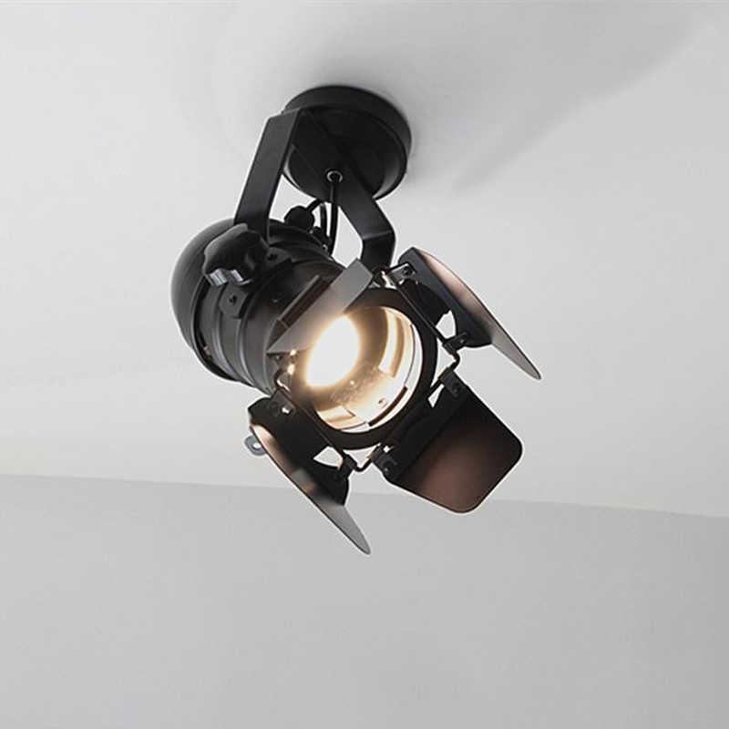 Led 벽 램프 트랙 미국 레트로 국가 로프트 스타일 램프 산업 빈티지 철 벽 조명 바 카페 홈 조명