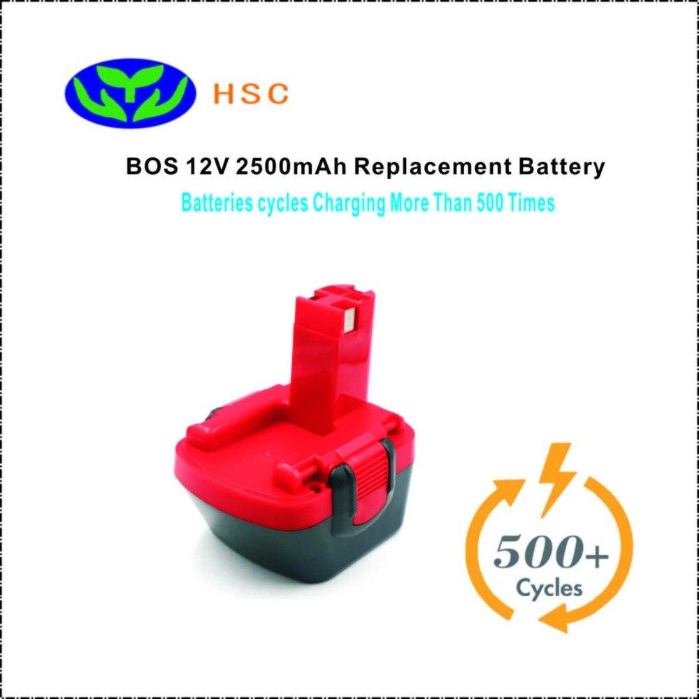 2500mAh BOS12A 12 VOLT Battery Replacement Bos BAT120 BAT139 BAT159 BAT043 BAT045 Original Battery Pack 12V