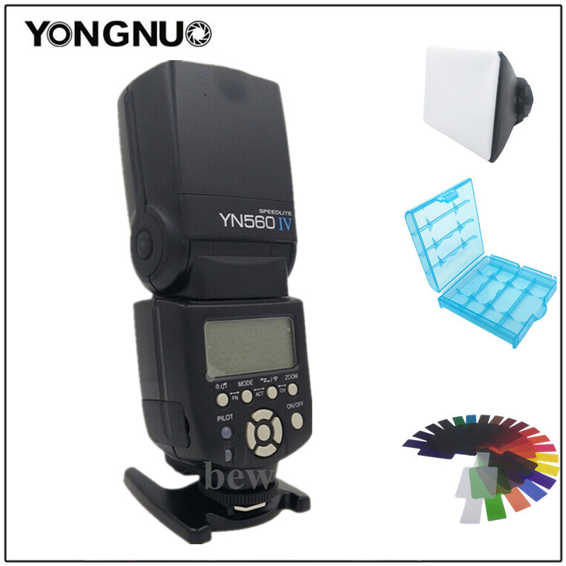 Yongnuo YN-560IV YN-560 IV 2.4G Wireless Flash Speedlite For Canon Nikon Pentax D3300 D3200 D3100 D3000 D7000 D7100 d7500 7d yongnuo yn 560iv flash speedlite camera wireless flash light for nikon canon pentax olympus rf602
