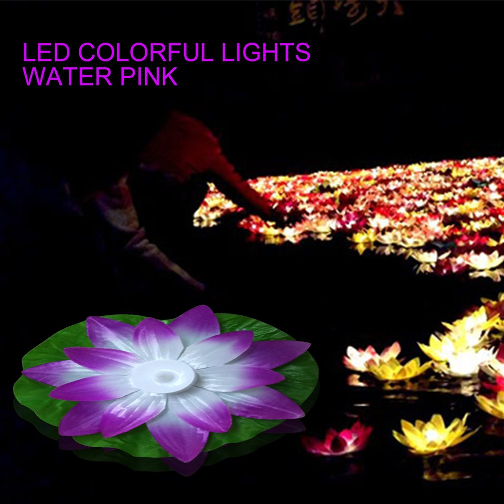 Colorful LED Changed Floating Flower Lamps Water Swimming Pool Wishing Light