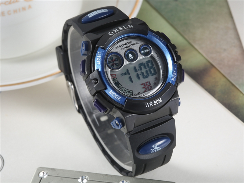 Fashion OHSEN Brand Sports Watches Children LED Digital Watch Kids Multifunctional Wristwatches Alarm Stopwatch Student Clock (21)