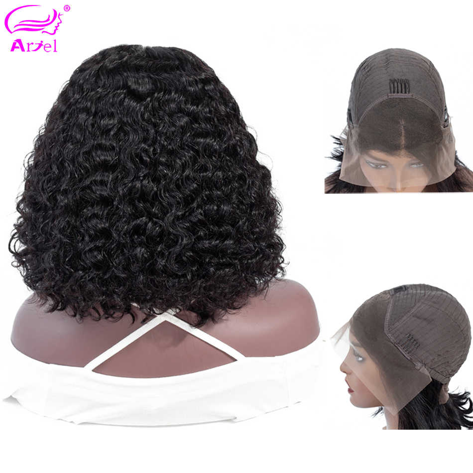Curly Lace Front Wig Lace Front Human Hair Wigs For Black Women Bob Wig Peruvian Remy 13×4 Brown Lace Wigs Bob Lace Front Wigs