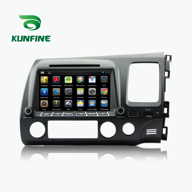 KUNFINE Android 7.1 Quad Core 2GB Car DVD GPS Navigation Player Car Stereo for Honda CIVIC Right Hand Driving 2006-2011 Radio