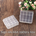 2 PCS Branco 4 pcs AA AAA Caixa de Bateria de Plástico Transparente Caixa de Armazenamento Titular Frete Grátis