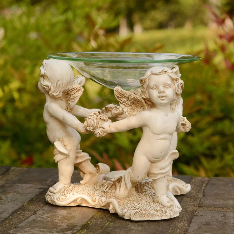 Europa Ángel TeaLight Candle Holder Aroma Furnace Burner Wedding - Decoración del hogar - foto 2