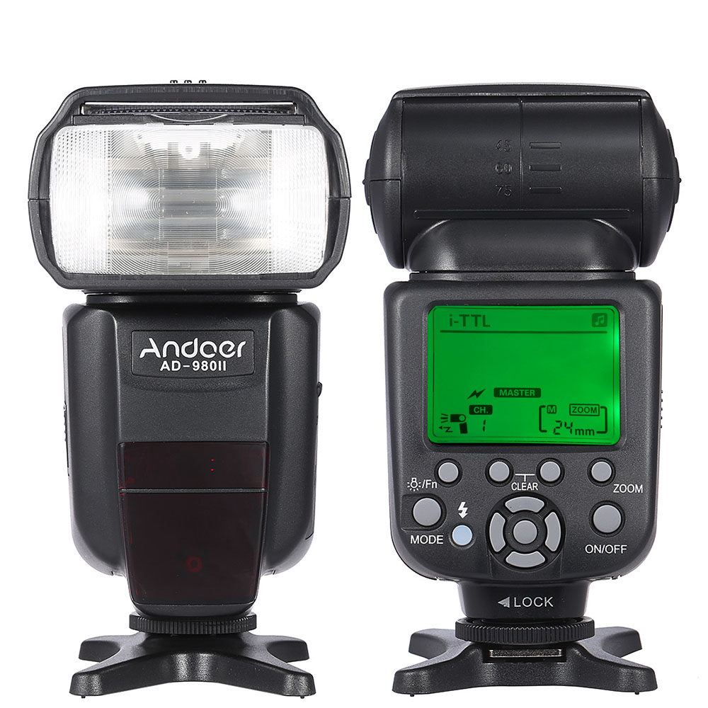 Andoer AD 980II i TTL Master Slave Flash Speedlite HSS 1 8000s GN58 for Nikon D7200