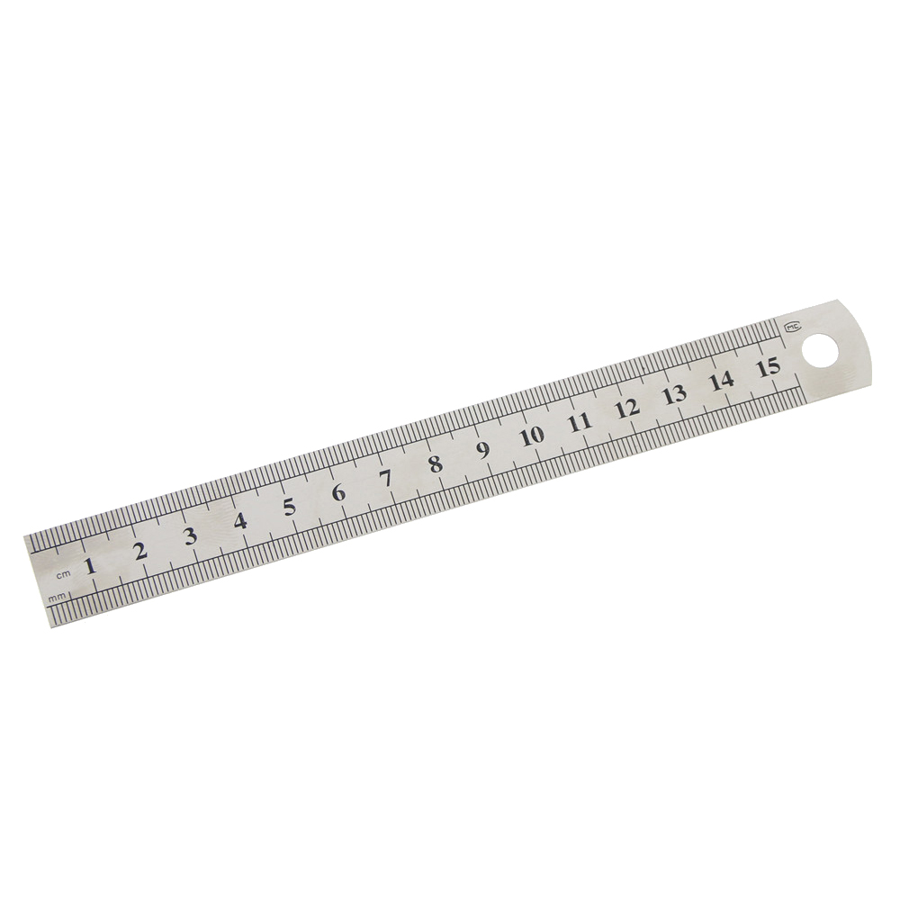 1 Pc 15cm 6 Inch Stainless Steel Metal Straight Ruler Precision Double Sided Learning Office Stationery Drafting Supplies plan
