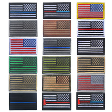 Tactical Morale American Flag Patch Right arm badge Emblem Army Badge Embroidered Applique