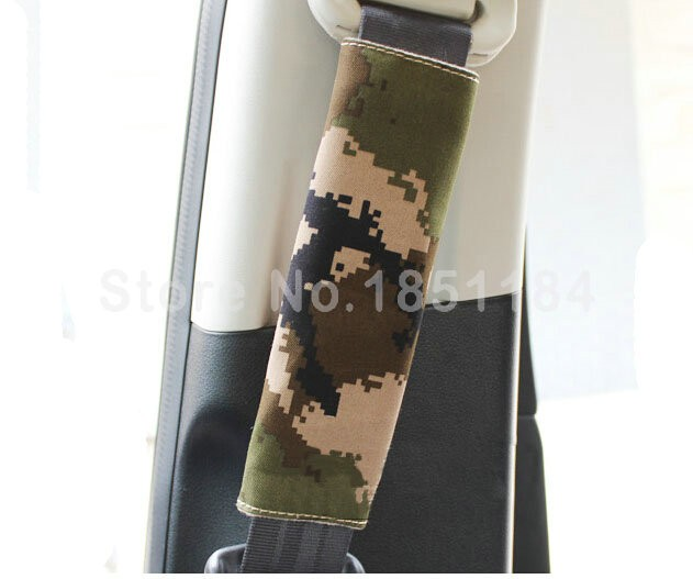 Calssic-Man-Camouflage-Camo-Cloth-Auto-Seat-Safety-Belt-Covers-2pcs-Green-l1