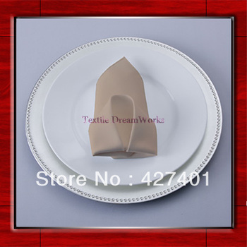 High Quality 50x50cm Khaki Polyester Plain Napkin / Table Napkin / Hotel Napkin / Dinner Napkin  (Factory Direct Sale)