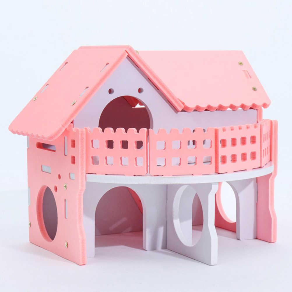 1 шт. хомяк Лежанка для сна экологическая маленькая Вилла балкон хомяк клетка дом