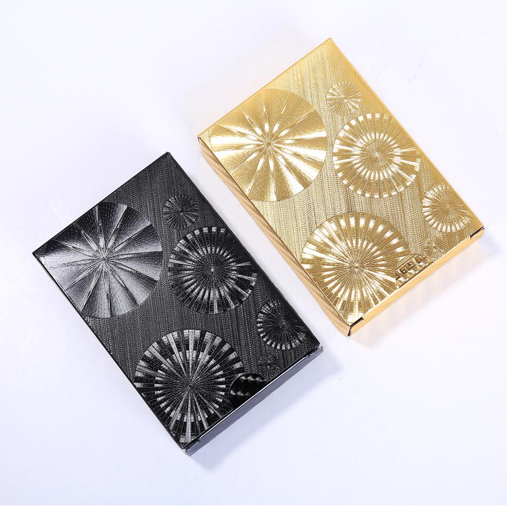 Waterproof PVC Playing Cards Golden and black Collection Durable creative gift and diamond Standard plastic poker quality plastic poker waterproof black playing cards limited edition collection diamond poker cards creative gift standard