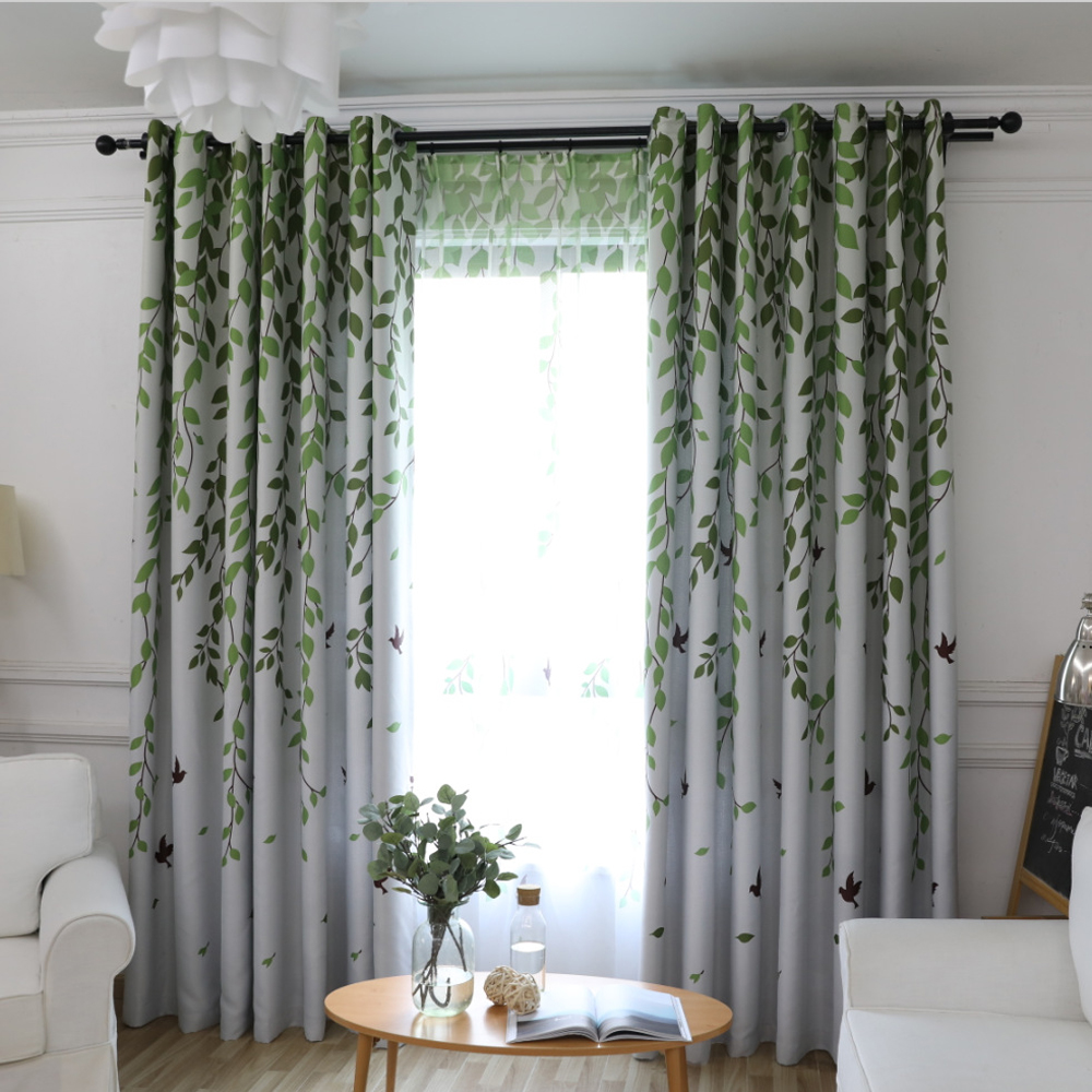 Aliexpress.com : Buy Modern Garden Green Curtain Tulle Finished ...