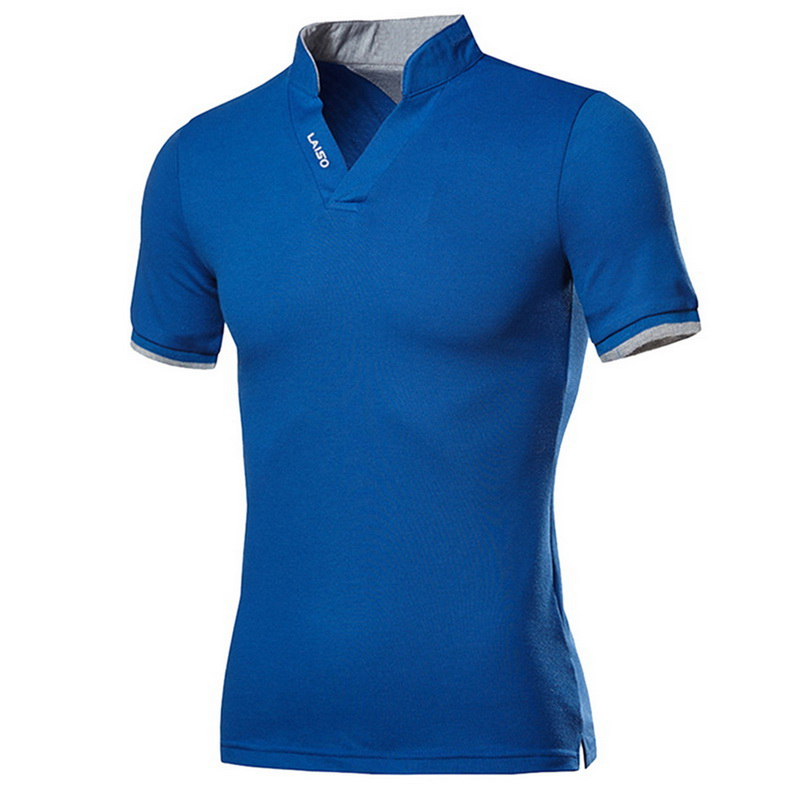 Oeak Cotton Men Polo Shirt Tops Fashion Plus Size Short Sleeve Black White Polo Shirt Sexy Stand Collar Homme Camisa 4XL 5XL