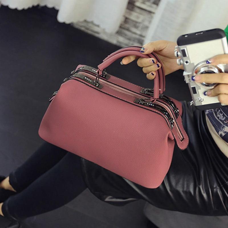 цены на Top-Handle bags 2017 Women Fashion casual Boston handbags women messenger bag ladies party famous brand shoulder crossbody bags в интернет-магазинах