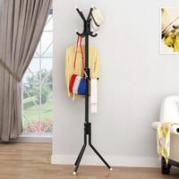 Steel Pipe+plastic hanging Coat Hat scarf Metal Rack Organizer Hanger Hook Stand for Purse Handbag Clothes umbrellas