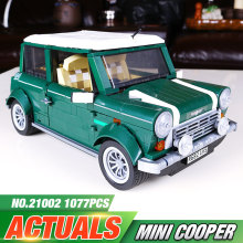 2016 NEW 1108pcs compatible Legeod Lepin 21002 Technic series MINI Cooper MK VII Model Kits Minifigures Blocks Bricks Toys 10242