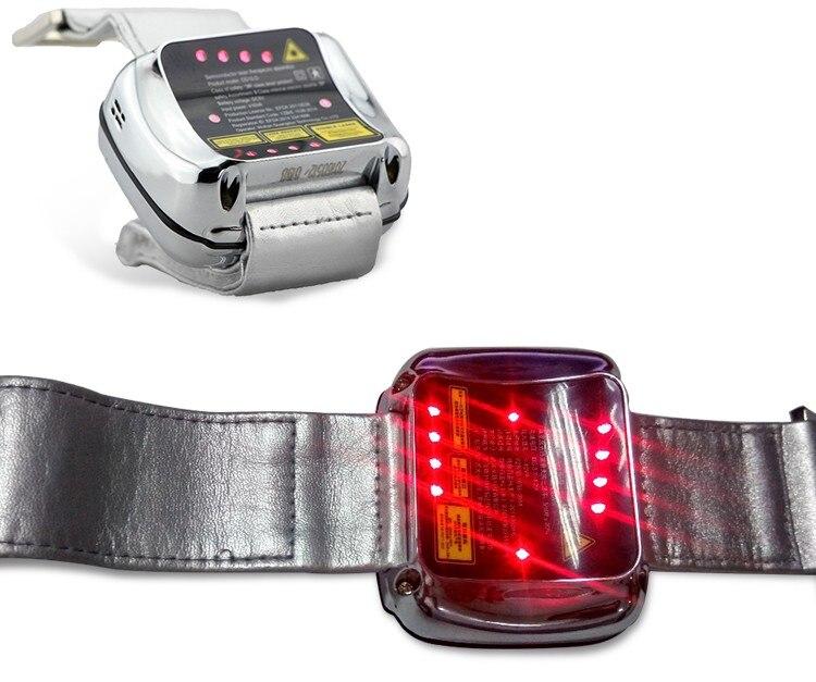 Lastek faible niveau physique laser thérapie poignet montre pour haute sang presse & haute suger sang traitement