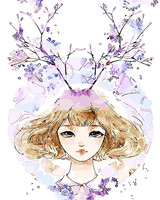 Princess Deer Abstract Girl Frameless Pictures Painting By Numbers DIY Canvas Oil Painting Home Decoration For
