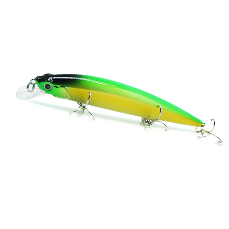 2019 New Fishing Lure Minnow Wobblers Artificial Bait TP089 19G 14CM 5 Different Colors Professional Carp Fish Bass Lure in Fishing Lures from Sports Entertainment