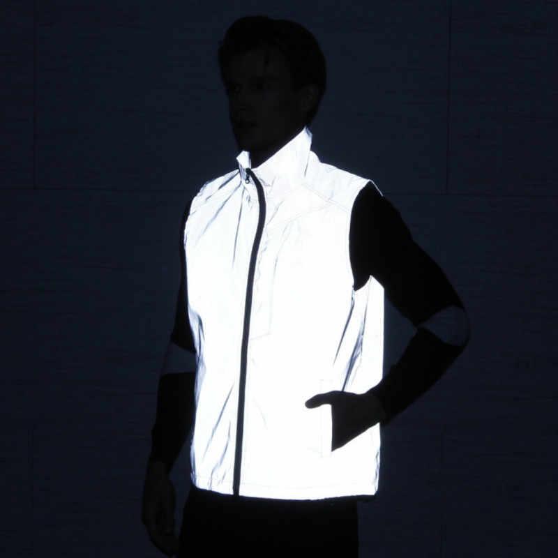 Мужская Светоотражающая жилетка жилет без рукавов в стиле хип хоп большие