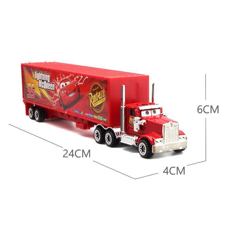 7 Pcs/set Disney Pixar Cars 3 Lightning McQueen Jackson Badai Cruz Mater MACK Paman Truk Diecast Mobil Model Mainan Gratis pengiriman