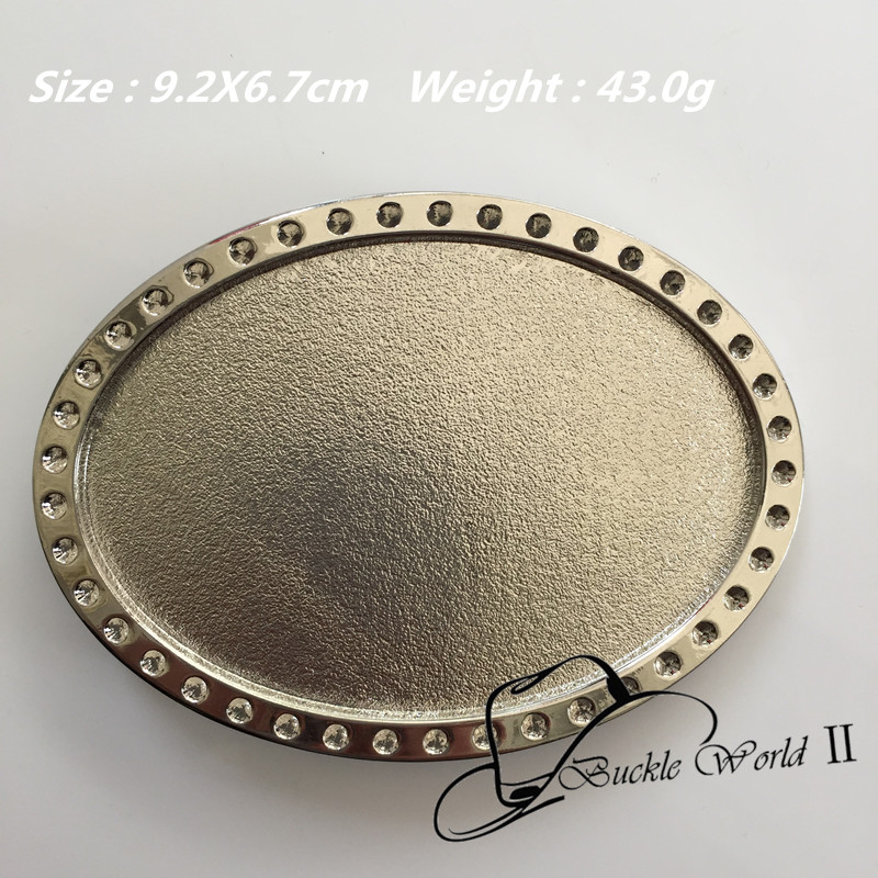 Retail New Style Oval Vintage Silver blank DIY belt buckles 92*67cm Metal For 4cm Wide B ...