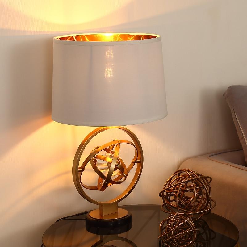 Desk Lamps Lamps & Shades Nordic Table Lamp Post Modern Crystal Ball Desk Light Luxury Simple Metal Plated Desk Lamp Room Bedroom Bedside Design Art Deco