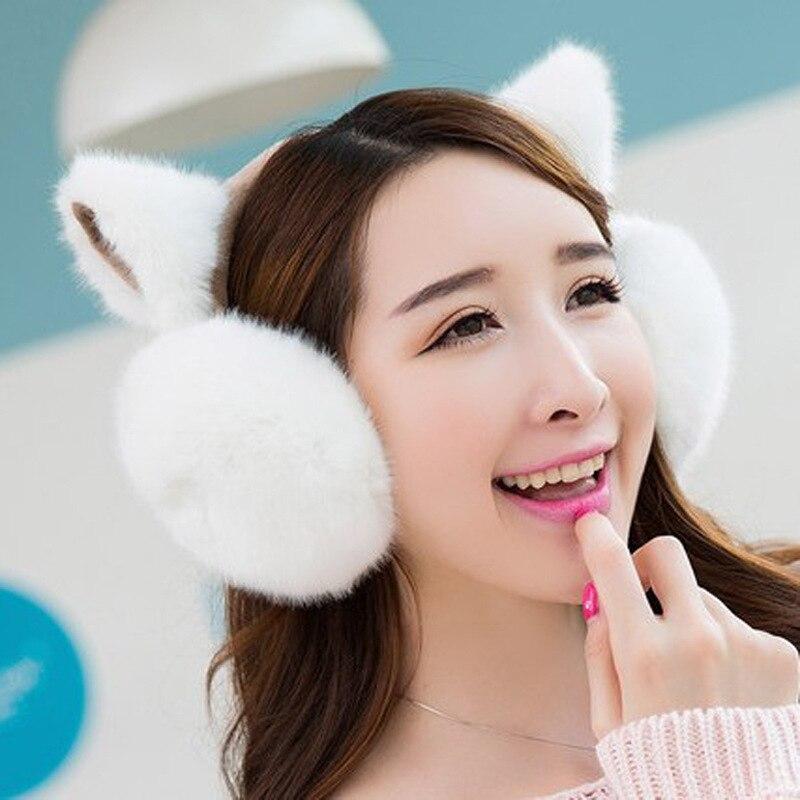 Women's Accessories Women's Earmuffs Good Cute Cat Ear Ear Muffs For Women Girls Ear Warmers Girls Plush Ear Muffs Earlap Warmer Headband