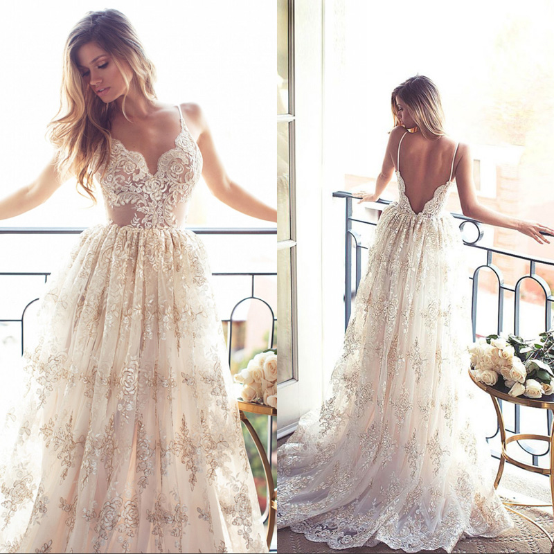 Compare prices on sexy beach wedding dresses online for Order wedding dress online
