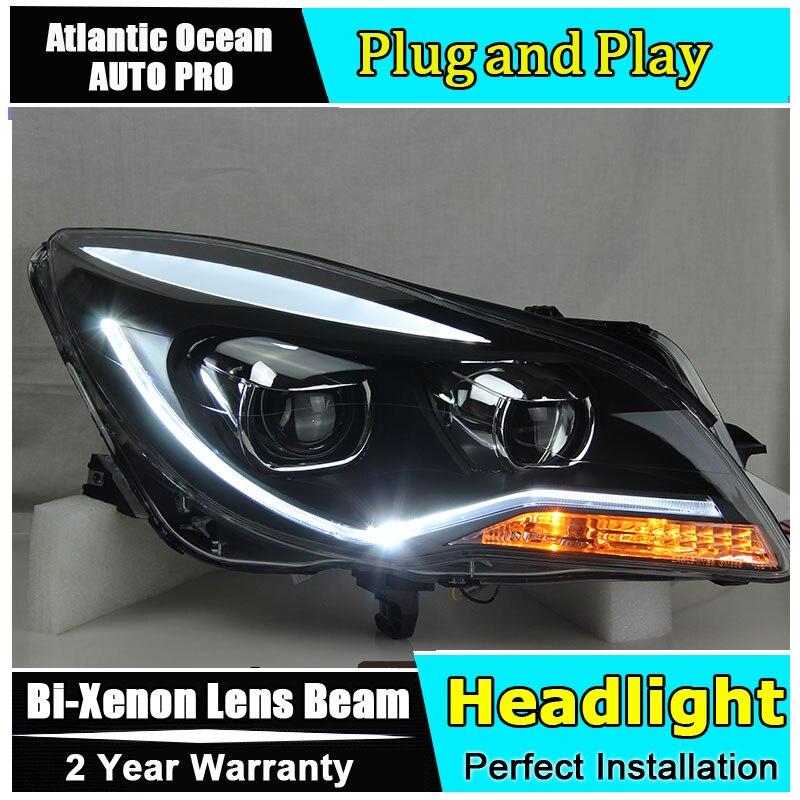 Phare de voiture style LED pour Opel Insignia phares 2014 2015 nouveauté LED drl HID KIT bi xénon lentille feux de croisement - 5