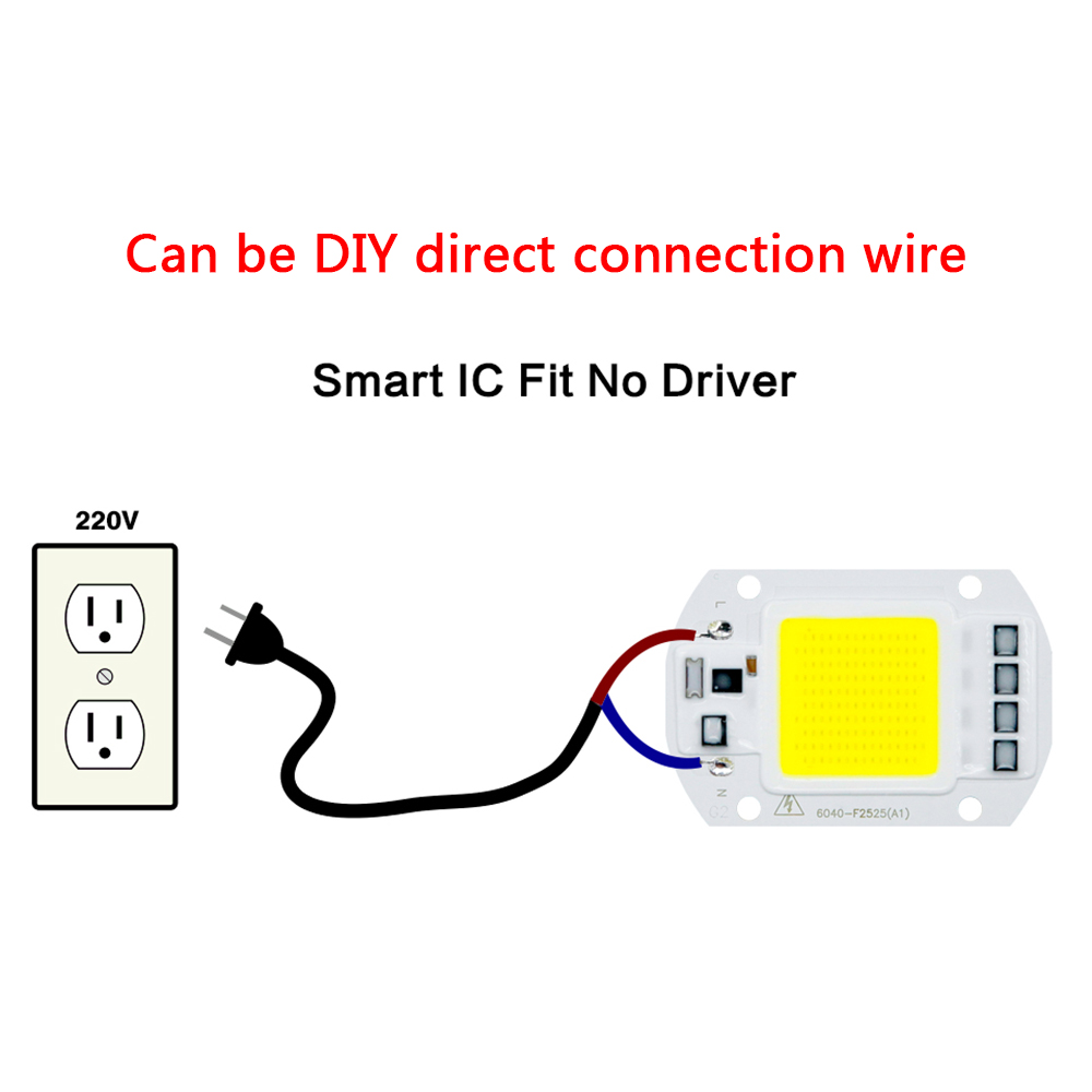 Image 5 - LED COB Lamp 10W 20W 30W 50W Real AC 220V 230V IP65 Smart IC DIY LED Bulb Flood Light Spotlight For Projectors Driver Light-in LED Bulbs & Tubes from Lights & Lighting