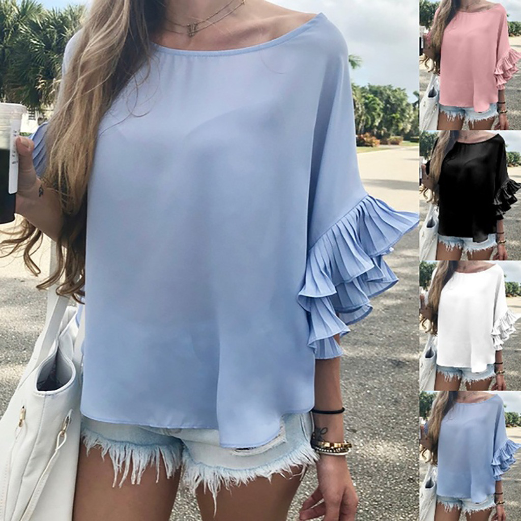 Female T-shirt Women Tshirt 2019 Women Fashion Casual Short Sleeve O-neck Solid Short Tops T-Shirt poleras mujer