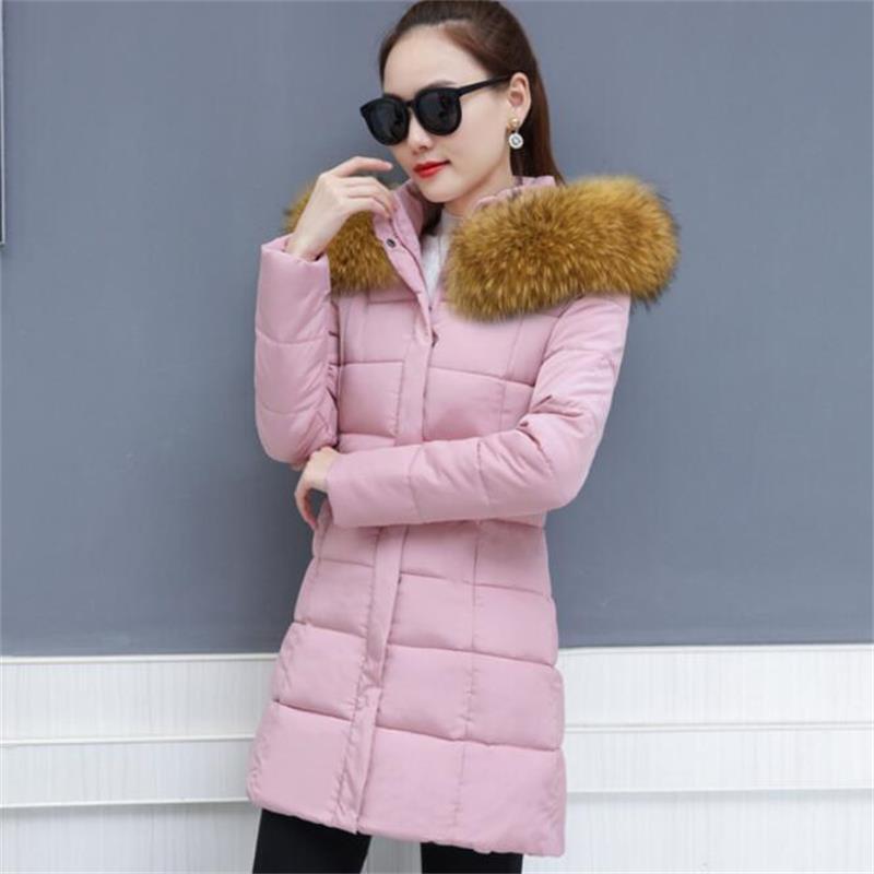 Neige Vers Bas Black Vêtements D'hiver khaki Veste Vestes Hiver Épaisse Faux red Manteau 2019 De Fourrure Femme Parkas Femmes Nouvelle Usure Le pink Dame green 7q8xR4C