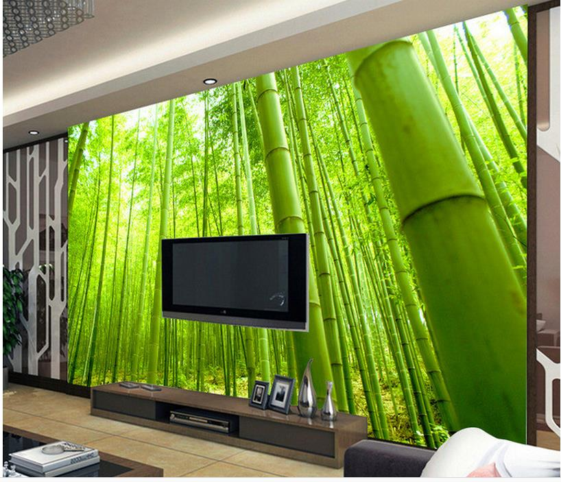 wallpaper for walls 3d Home Decoration Bamboo sofa living room TV backdrop custom 3d photo wallpaper