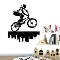 Avião Etiqueta da equitação da bicicleta Adesivos de Parede Wall Art Decor Para Sala de estar Crianças Quarto Art Mural decalque em parede vinilo decorativo