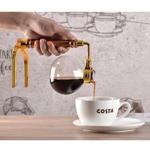 Image 4 - יפני סגנון לשאוב מכונת קפה תה לשאוב סיר מכונת קפה ואקום זכוכית סוג קפה מכונה מסנן Kahve Makinas 3cup 5cup