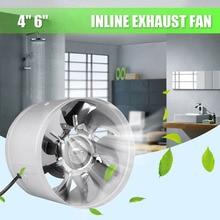 Мода 4 дюймов/6 дюймов Inline протока вентилятор Booster вытяжного вентилятора Air Cooling Vent металлическими лезвиями HY99 JY09