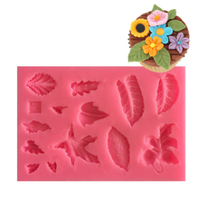 1Pc Various Leaves Silicone Mold 3D Mixed Sizes Leaf Shape Cake Decorating Tools Home Kitchen DIY Baking Accessories