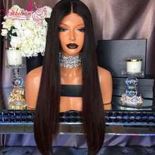 cheap 150 density straigh baby hair virgin Human Hair Glueless Full Lace Hair Wig silky straight Lace Front wigs for black women