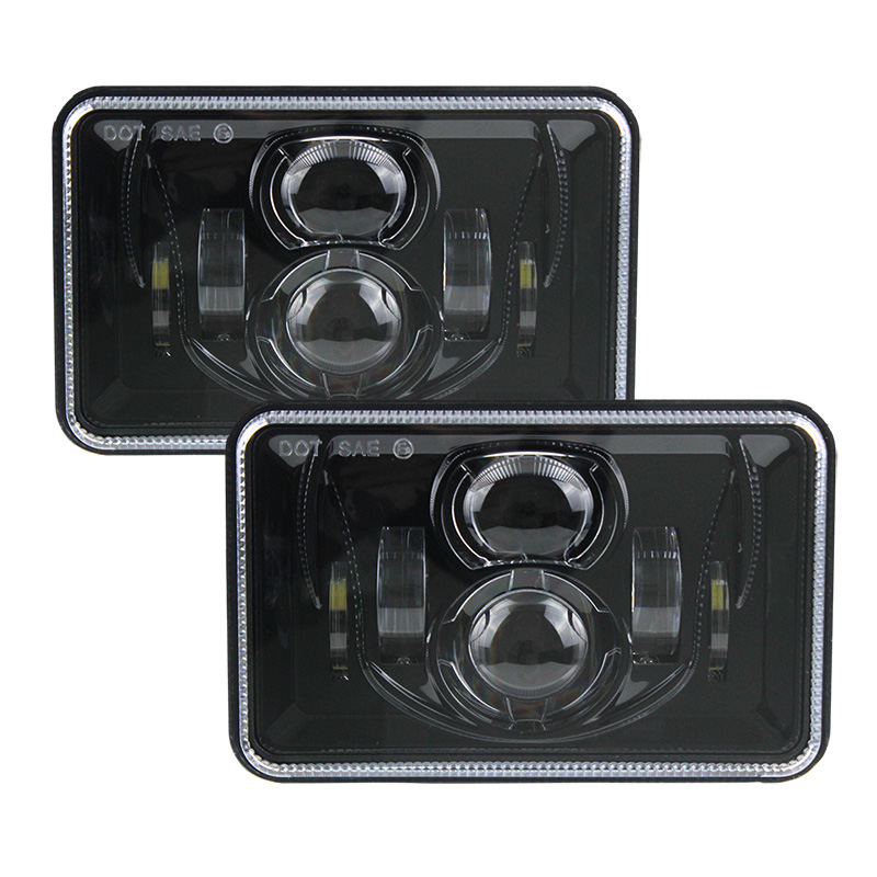 Square Truck Headlights 4X6 Car LED Headlight Light White Sealed Beam High/low Beam Replacement For Jeep Wrangler YJ Cherokee XJ