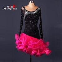 Супер флэш латинский танец представление высокого класса конкурс латиноамериканских танцев платье широкая юбка взрослый латинский танец
