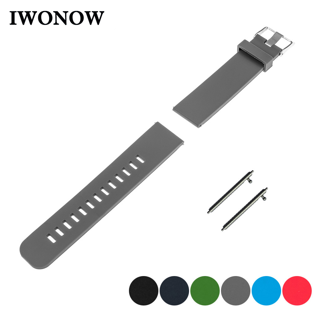 Silicone Rubber Quick Release Watch Band 17mm 18mm <font><b>19mm</b></font> 20mm 21mm 22m for Tissot T035 <font><b>PRC200</b></font> T055 T097 Strap Wrist Belt Bracelet image