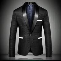 Mens Blazer Jacket 2018 England Designer Nice Striped Style Men Suit Jacket Slim Fit blazer de hombre Party Dress Outfit 9009