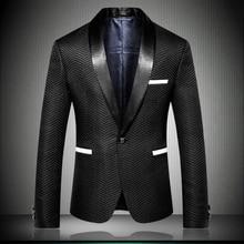 Mens Blazer Jacket 2019 England Designer Nice Striped Style Men Suit Slim Fit blazer de hombre Party Dress Outfit  9009