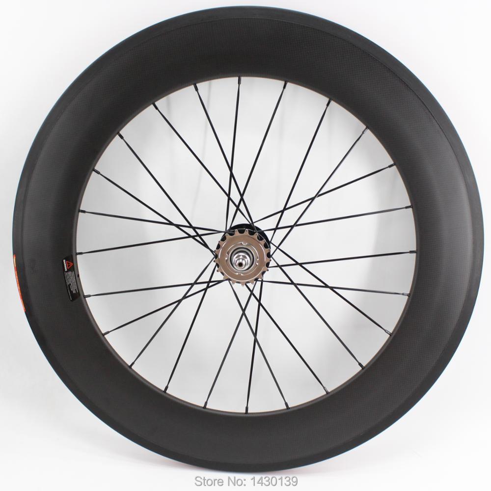 1pcs New 700C 88mm tubular rims Road Track Fixed Gear bike matte 3K UD 12K full