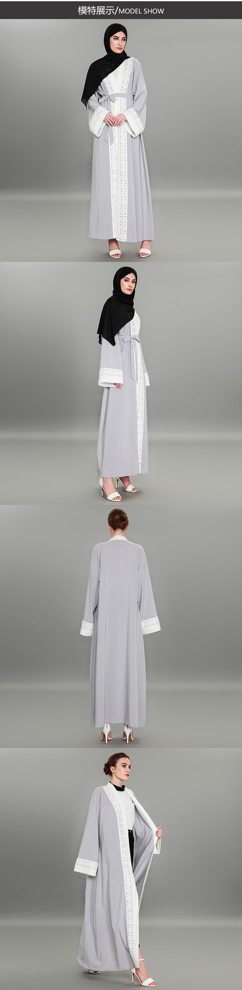 Nova costura rendas moda oriente médio robes